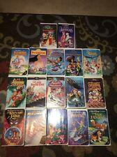 Lot of 17 Disney VHS Tapes, Some Black Diamond Peter Pan Pocahontas Dumbo More
