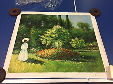 Claude Monet Reproduction Painting Hand Painted & Signed Woman In The Garden Art