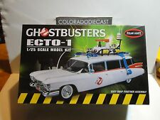 Polar Lights 1:25 Scale Ghostbusters Ecto-1 Model Kit Snap Togther Assembly