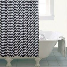 Zig Zag Black and White Classic Striped Shower Curtain Luxury Bath Decor Retro