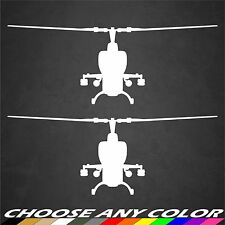 2 US Army AH-1 Cobra Helicopter Stickers Front View Military Graphics Decal Car