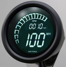 Digital Motorcycle Speedometer Speed  RPM Tacho Dash Daytona Dark Velona Dash