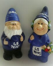 "45th sapphire wedding anniversary mr and mrs gift gnome figurines ""personalised"""
