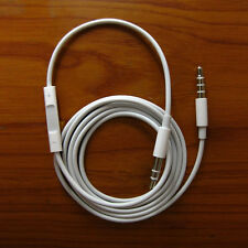 Record Car AUX Audio Cord headphone connect Cable Remote & Mic for apple iphone