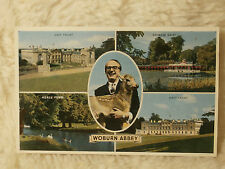 @ POSTCARD - WOBURN ABBEY - BEDFORDSHIRE - MULTI VIEW - 1965 (F)