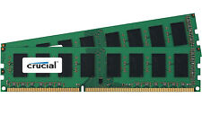 Crucial 8GB Kit 2x 4GB DDR3 1600 MHz PC3-12800 Desktop Memory Modules RAM uDimm