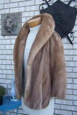 Vintage Mink Fur Coat Cape Honey Blonde Jacket Wrap Capelet Formal Wedding