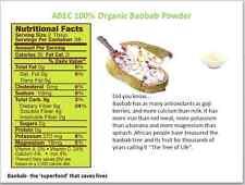 ABEC 100% Organic Baobab Powder 250g   - Free uk postage