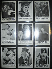 1961 SPOOK STORIES 1ST CARD SET  LEAF  *RARE TEST SET WITH GHOST EYES ON BACK*