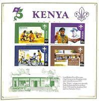 BOY SCOUTS KENYA SCOTT #224 SOUVENIR SHEET MNH VF 1982