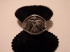 VINTAGE STERLING SILVER BELL TRADING POST THUNDERBIRD RING ABOUT SIZE 6.5