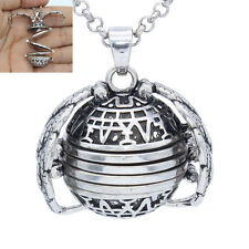 18mm Four Photo Ball Locket Antique Silver Wing Living Memory Pendant Necklace