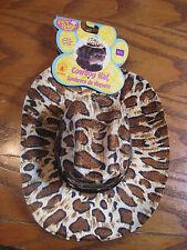 Cowboy Hat for Dogs - Rubie's Pet Shop - M/L Brown Leopard Print Cowboy Hat- Dog