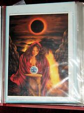 Greeting card Solar Eclipse by Jean-Paul Avisse approx: 180mm by 125mm