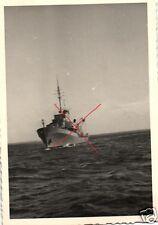 13783/ Originalfoto 6,5x9,5cm Deutsches Minensuchboot, ca. 1943
