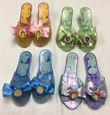 LOT OF 4!  DISNEY PRINCESS DRESS UP COSTUME SHOES SLIPPERS W/ BOW €