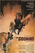 1985 VINTAGE MOVIE POSTER the goonies BROTHERS treasure map ADVENTURE 24X36