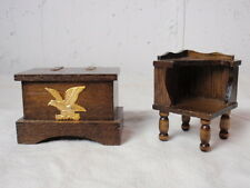 Lot Early American Dollhouse Furniture Concord Miniature Corner Table Hope Chest