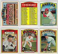 1972 Topps Baseball U Pick 10 EX-EX-MT+ from Series 1-5