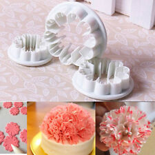 3Pcs Carnation Flower Cake Fondant Sugarcraft Mold Cutter Gum Paste Decor Tools