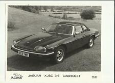 """Jaguar xjsc 3.6 cabriolet press photo """"brochure"""" connexes"""
