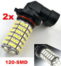 2X Car 9006 HB4 3528 120 LED SMD 6000K White Head Fog Driving Light Lamp Bulb