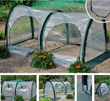 2 Meter Greenhouse Walk-In Green House Hot Plant Shed Storage 2 Doors PE Cover