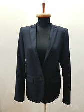 STELLA MCCARTNEY BLUE WOOL BLAZER JACKET SIZE 40