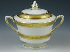 Royal Worcester England CORONET Gold Encrusted SUGAR BOWL With LID