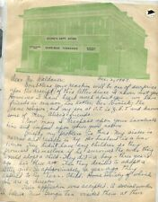 HARRIMAN TENNESSEE 1947 STONE DEPARTMENT STORE LETTER