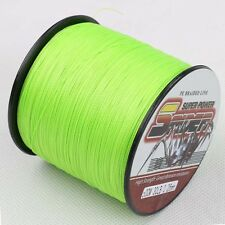 Spider Braided New Fishing Line 300m 30LB Fluorescent Green 100%PE Dyneema