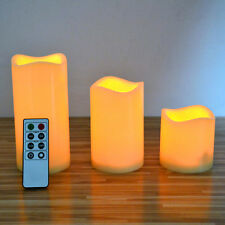 3PCS Candles Flameless LED Ivory Color with Remote Control