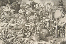 Framed Print - 7 Deadly Sins PRIDE by Pieter Bruegel the Elder 1558 (Picture)
