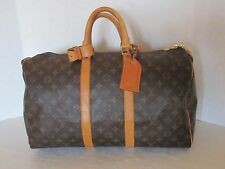 LOUIS VUITTON MONOGRAM KEEPALL 45 DUFFEL BAG TRAVEL BAG SP0970