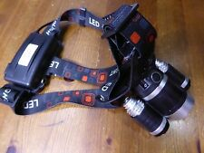 5000 Lumen TRIPLE LED CREE T6 Head Torch SET with charger & TWO batteries