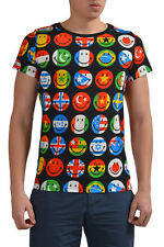 Moschino Couture! Men's Multi-Color Graphic Short Sleeve T-Shirt US S IT 48