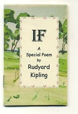 MINIATURE BOOK : Rudyard Kipling IF a Special Poem