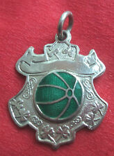 Irish Silver Enamel  Medal or Fob  - Gaelic Football - Dublin 1961 not engraved