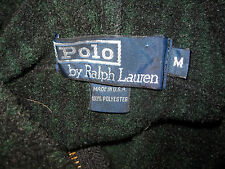 Vintage Polo Ralph Lauren Green Flannel Plaid Hoodie Mens M Large? Made in USA