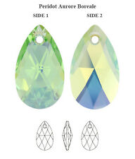 Genuine SWAROVSKI 6106 Pear Pendant Peridot AB 16mm