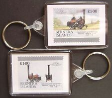 1830 Canterbury & Whitstable Railway INVICTA Train Stamp Keyring (Loco 100)