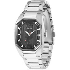 Police Octane 12895Ls/02M Men's Black Dial Stainless Steel Bracelet Watch