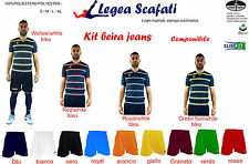 KIT BEIRA JEANS LEGEA 8 kit 128€ MUTA DIVISA SET SPORT CALCIO CALCETTO