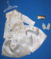 Vintage Barbie White Magic Satin Coat #1607 1964 Fashion Pak 1963 Silver Purse