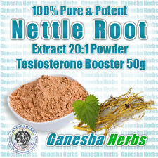 100% Pure & Potent Nettle Root Extract 20:1 Powder Testosterone Booster 50g.