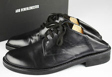 New! Ann Demeulemeester Boots Shoes Sz 44 men's Strap Leather Black boxed Scarpe