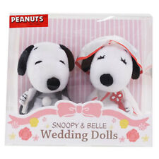 SNOOPY BELLE Plush Doll Japanese Kimono Wedding Bride Groom with Display Case