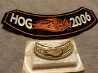 NEW HOG 2006 Rocker Patch & Pin set Harley Davidson Owners Motorcycle Group lot