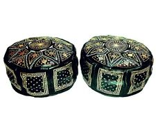 Moroccan handmade leather samba pouffe beanbag ottoman XL footstool foot stool