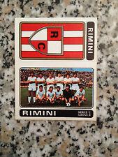 SCUDETTO RIMINI N. 518 CALCIATORI PANINI 1972-73 NUOVO CON VELINA DA BUSTINA